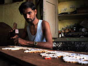 inlay craftsman , Mysore ,Karnataka , India
